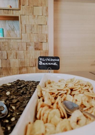 Snacks im Puria Spa
