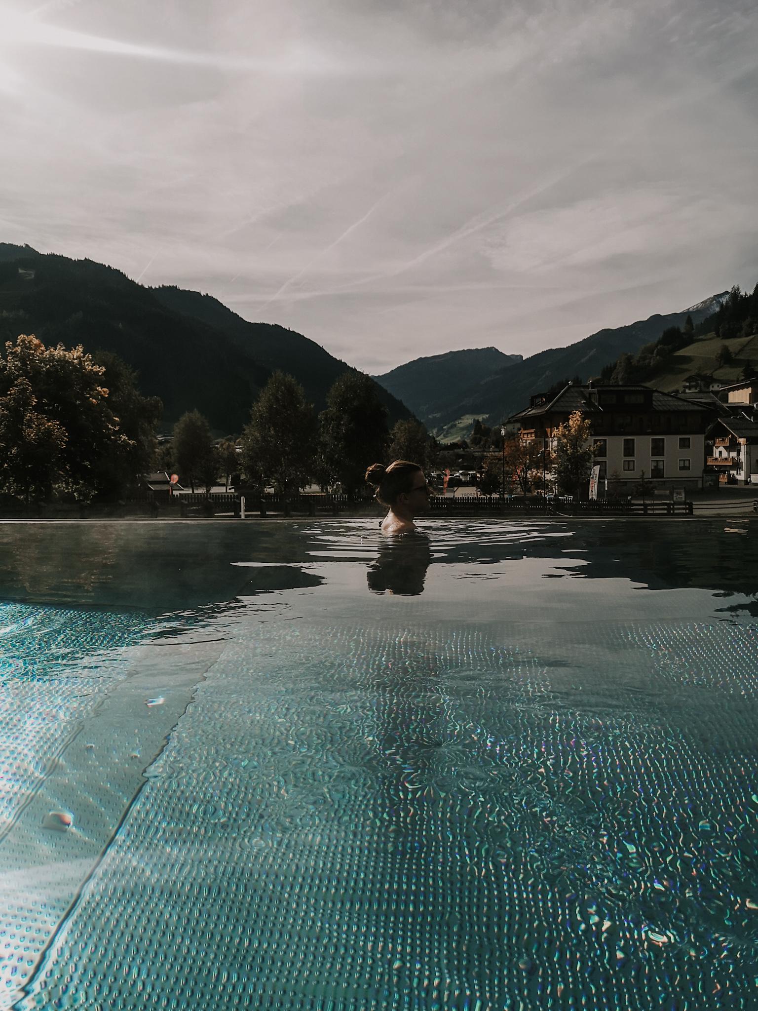 Infinity Pool Hotel Nesslerhof Großarl